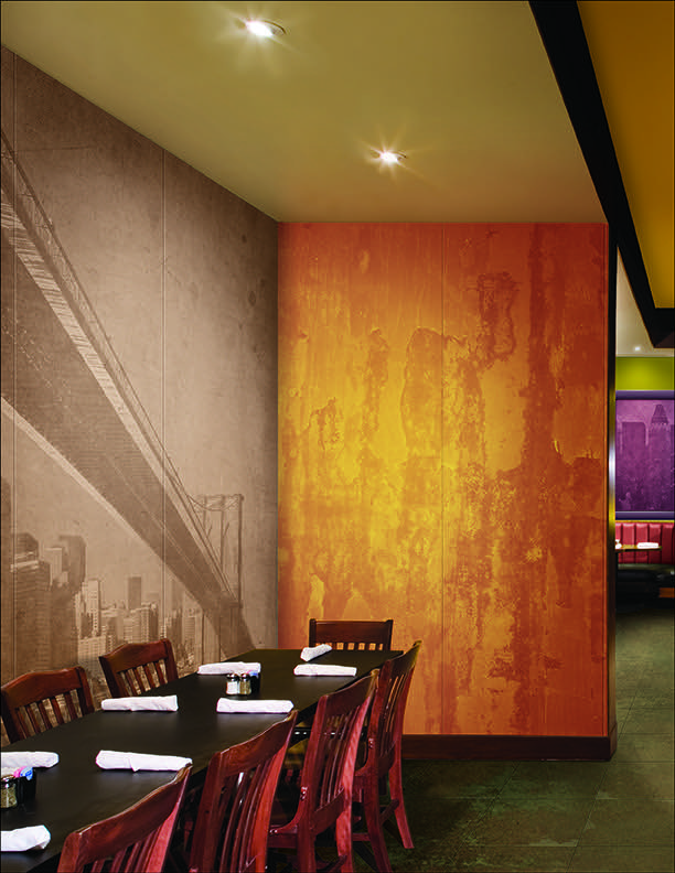 Imagitect used to create a custom graphic wall that will last and not fade.