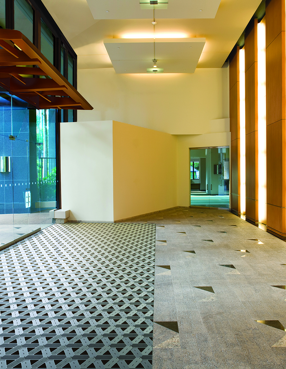 Floormations entrance flooring system offers optimal aesthetic solutions that will help match your main floor with your entrance flooring system by Impact Specialties
