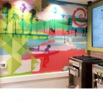 Imagitect used to create a custom graphic accent wall for this restaurant. Create graphics that will not fade, peel or scratch with imagitect